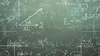 Pizarra y fórmula matemática