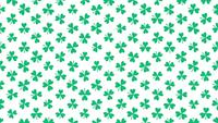 Kleines grünes Kleeblattmuster