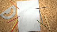 Escritorio de corcho para estudiantes