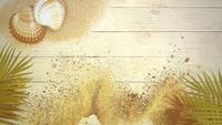 Plage de sable avec coquillages