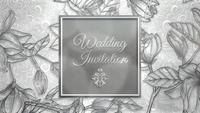Wedding Invitation in flowers frame