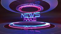 Texte de fausses nouvelles en studio