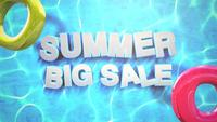 Text Summer Big Sale im Pool