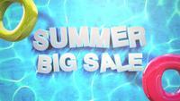 Texte Grande vente d'été dans la piscine