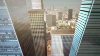 Animation de vol entre les gratte-ciel
