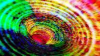 Túnel de luz digital abstracto