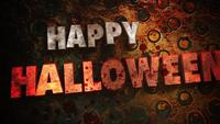 Fröhliches Halloween auf Horrorhintergrund