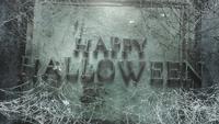 Glad Halloween med mörk spindelnät