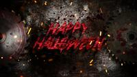 Happy Halloween on electric saw
