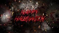 Happy Halloween on electric saw