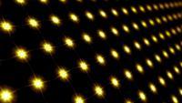 Movimiento de lazo LED de patrón de mosaico de luz de estrella amarilla