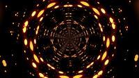 Bucle de fondo oscuro bokeh dorado luz de túnel psicodélico