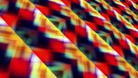 Lazo de patrón de intersección geométrica multicolor multicolor de neón vivo