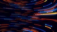 Abstrakt blå och orange ljus strömlinjeformar bakgrund