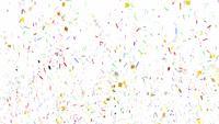 Explosions de confettis tombant