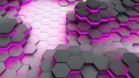 Abstract hexagon 3d rendering