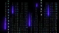 Laser violet matriciel alphabet