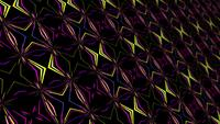 Futuristic multicolored laser lines mosaic endless pattern loop