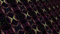 Boucle de motif sans fin en mosaïque de lignes laser multicolores futuristes