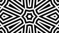 Lignes abstraites en noir et blanc