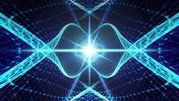 Estrutura de arame de matriz de holofote de néon azul irradiando
