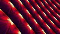 Mosaïque de lumière flash techno sci-fi scintillante avec des motifs infinis