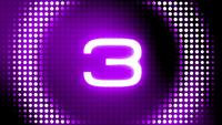 Futuristic Electronic Countdown Numbers with Glowing Effect