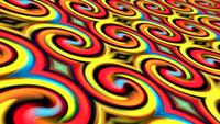 Colorful Red-Yellow-Blue Gradient Swirl Circle Pattern