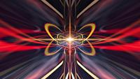 Explosion de kaléidoscope de lumière rougeoyante