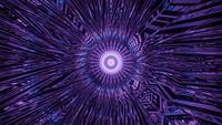 Purple Flowing Abstract Tunnel