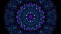 Techno Neon Kaleidoskopische Passage