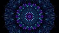 Passage kaléidoscopique techno néon