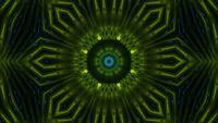 Lebendiges mehrdimensionales Portal mit grünem Farbton
