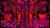 Geometrische rote Spiegelillusion