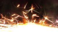 Sparks on Black Background