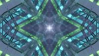 Mandala inspirada en fiesta prismática plateada elegante