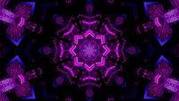 Glödande konstmosaik symmetriskt mönster