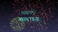 Fuegos artificiales para un invierno feliz