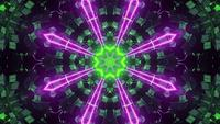 Passage coloré au laser néon animé