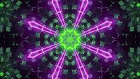 Animerad neonlaserfärgad passage