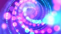 Blauwe Bokeh Lights spinnen in spiraalvorm achtergrond