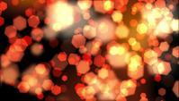 Oranje zeshoekige zachte Bokeh Lights zwevende achtergrond