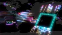 Puce haute vitesse de photons intelligents numériques futuristes