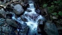 Kaskade von Wasserfällen Rosa Khutor