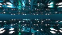 Blauwe futuristische 3d constructie achtergrond