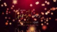 Merry Christmas Happy New Year gouden glanzende sneeuwvlokken