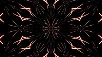 Caleidoscopio de neón abstracto