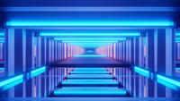 Cyber Calming Tunnel Effect in Motion