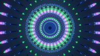 Ilusión de luz brillante ondulada mágica