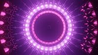 Bucle de emisión de energía rosa animado